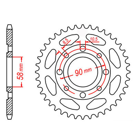 SPROCKET REAR MTX 269 43T #428