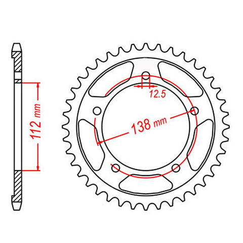 SPROCKET REAR MTX 302 41T #530