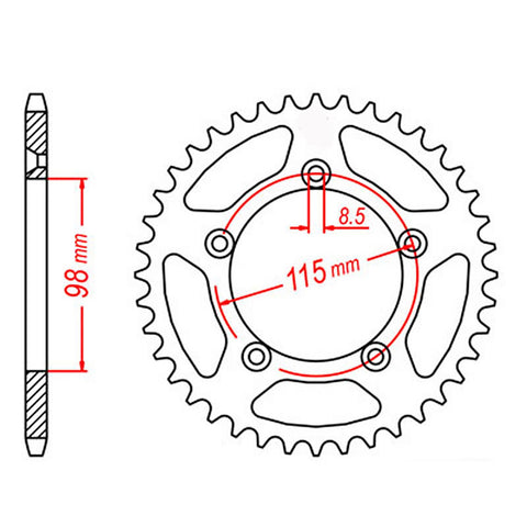 SPROCKET REAR MTX 894 47T #420