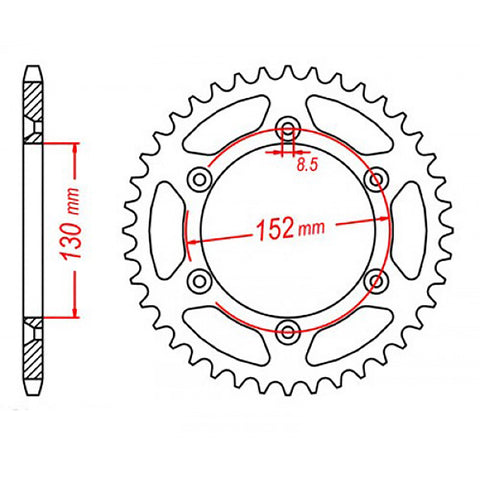 SPROCKET REAR MTX 706-46T #520