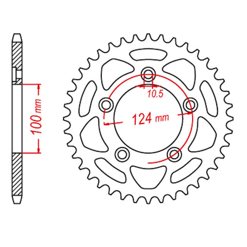 SPROCKET REAR MTX 746 43T #520