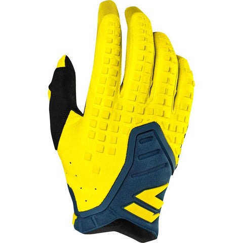 Shift 2019 3Lack Dirt Bike Motocross Riding Pro Gloves - Yellow/Navy