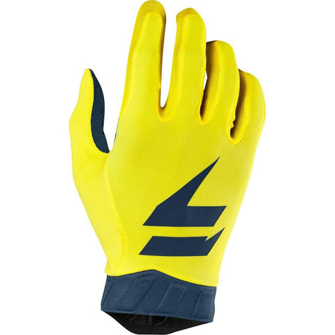 Shift 2019 3Lack Dirt Bike Motocross Riding Air Gloves - Yellow/Navy
