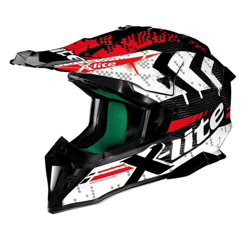 X-Lite Helmet X-502 Ultra Carbon Nac-Nac White Red 3 MX/Enduro
