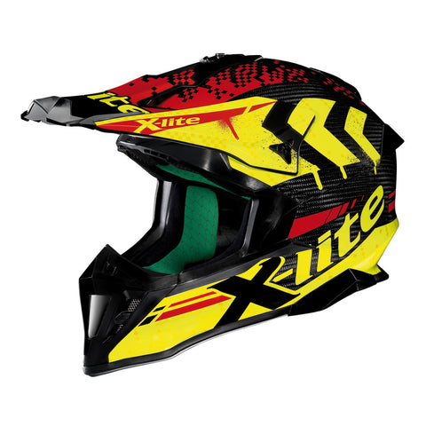 X-Lite Helmet X-502 Ultra Carbon Nac-Nac Yellow Red 4 MX/Enduro