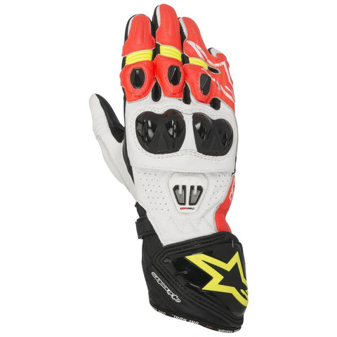 Alpinestars Gloves GP Pro R2 Leather Black/White/Red/Yellow