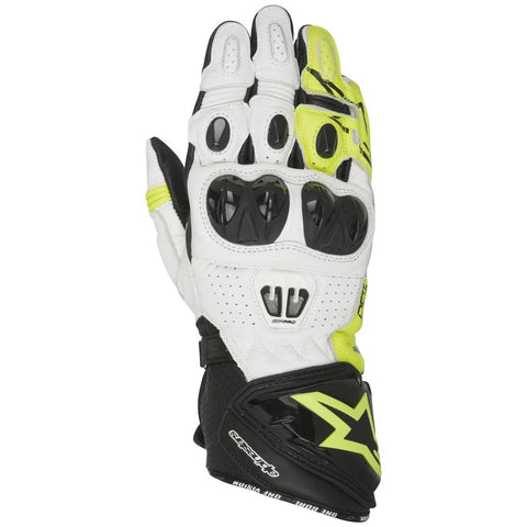 Alpinestars Gloves GP Pro R2 Leather Black/White/Yellow