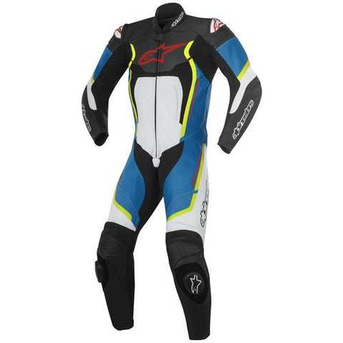 Alpinestars Mens Motegi v2 Leather Suit - Black/White/Blue