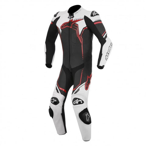 Alpinestars Mens GP Plus 1 Piece Leather Race Suit - Black/White/Red