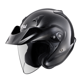 Arai CTZ/CTF Open Face Helmet - Gloss Black