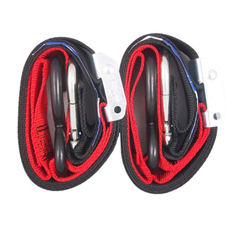 Bull Bar 35mm Tie Downs Red (Pair) - MotoHeaven