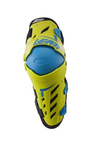 Leatt Dual Axis Knee & Shin Guard - Lime/Blue
