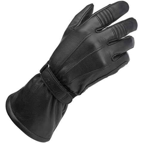 Biltwell Gauntlet Motorcycle Gloves - Black