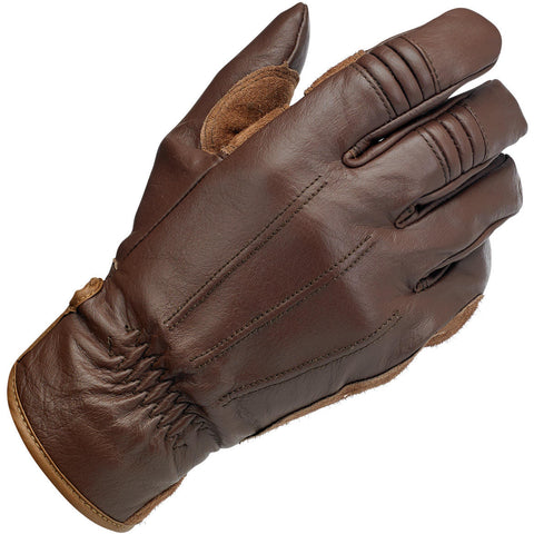 Biltwell Work Motorcycle Gloves - Chocolate