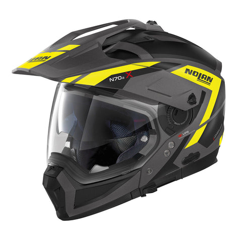Nolan N702 X Grandes Alpes 23 Helmet - Flat Grey/Black/Yellow