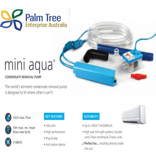 MINI AQUA CONDENSATE PUMP 8M UP 7KW/HR