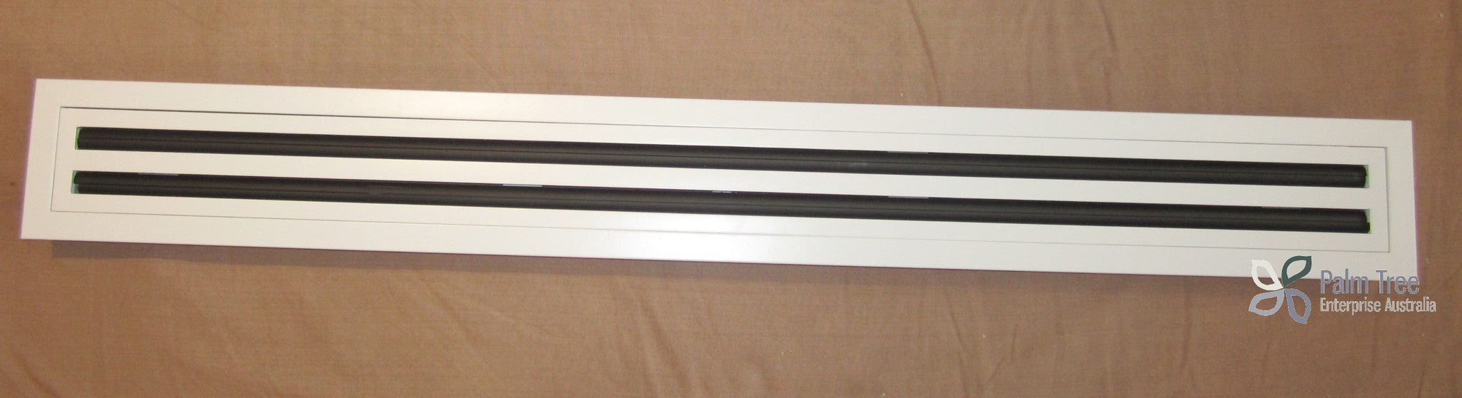 High Quality Aluminium Linear Grill Air Conditioner 2 slot Grill/Vent removable core (White)