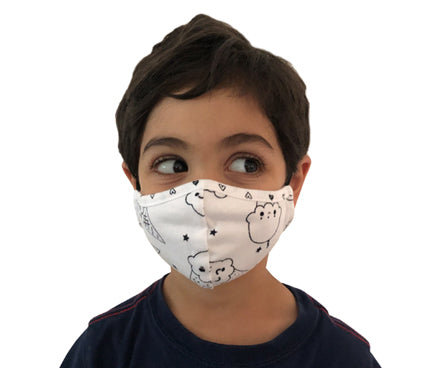 Kids Face Masks, Black and White