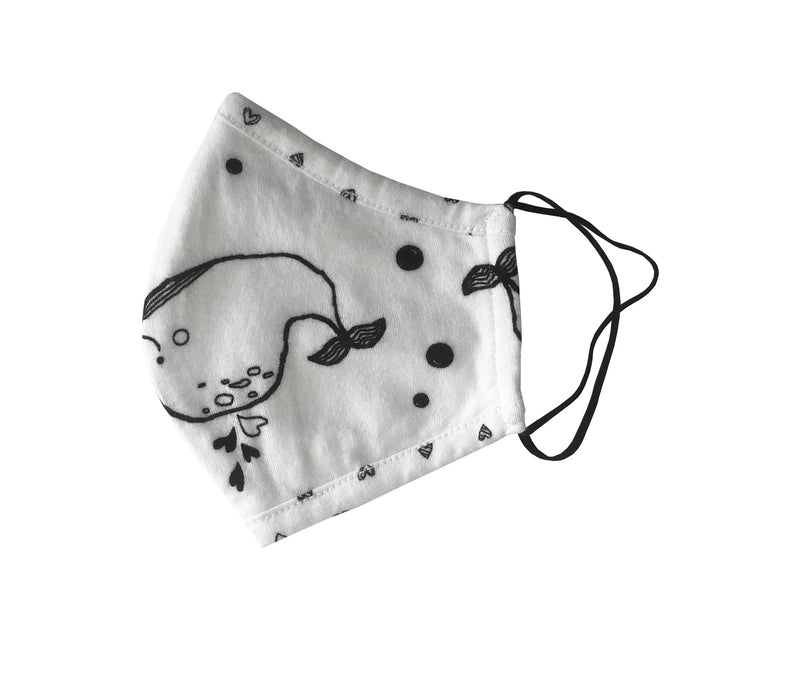 Adult Size Cotton Jersey Face Masks With Print