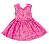 Ice Cream Smiles Peek-A-Boo Dress in Hot Pink