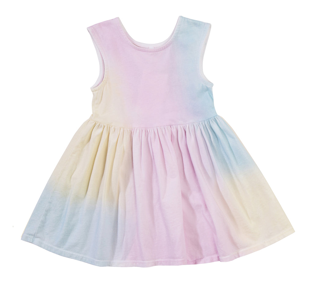 Peek-A-Boo Dress, Unicorn Rainbow