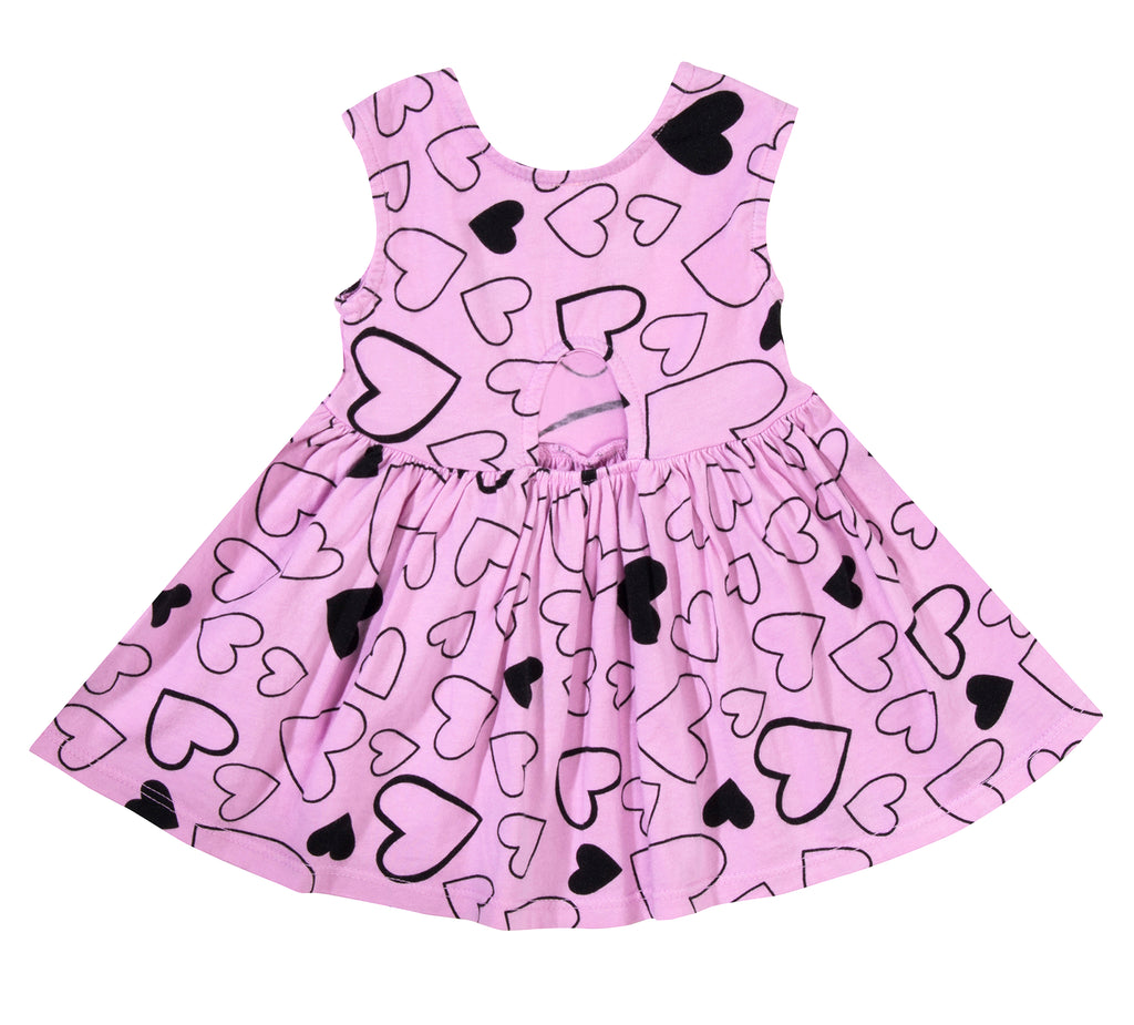 Confetti Love Peek-A-Boo Dress, Peony Pink
