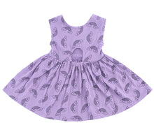 Rainbow Smiles Peek-A-Boo Dress, Violet