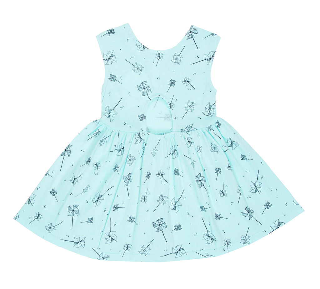 Playful Pinwheel Peek-A-Boo Dress, Marvelous Mint