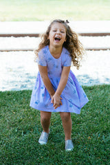 Gumballs Short Sleeve Dress, Lovely Lilac