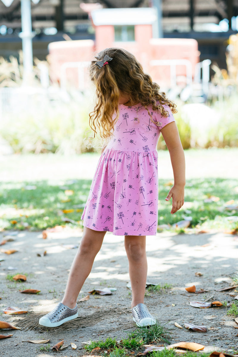 Pink Peony Kids Cute Toddler Dress