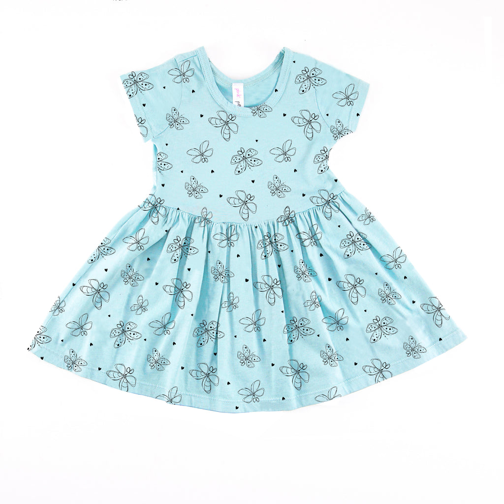 Exclusive Butterfly Short Sleeve Dress for CHLA
