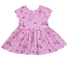 Puppy Party Short Sleeve Dress, Peony Pink