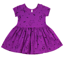 Puppy Party Short Sleeve Dress, Orchid