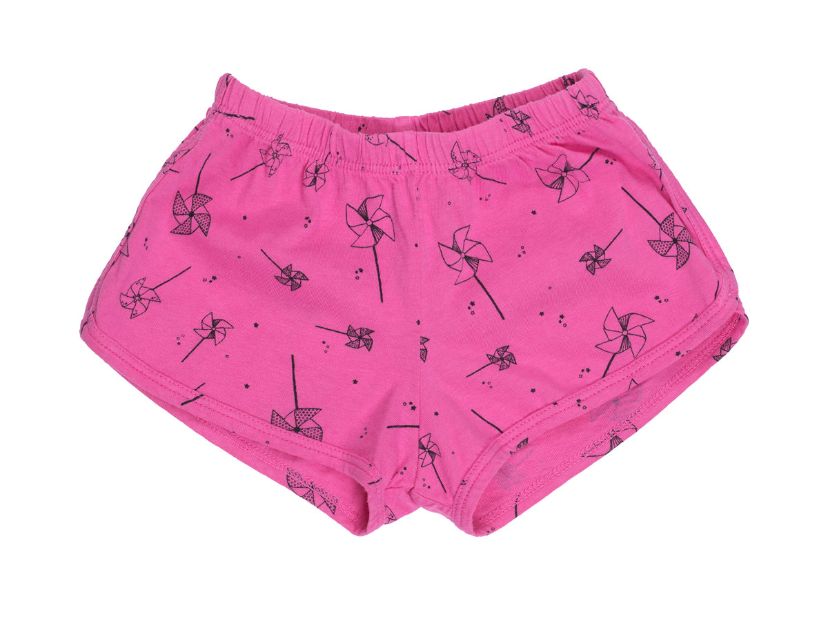 Pin Wheels Track Shorts, Hot Pink