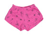 Playful Pinwheels Track Shorts in Hot Pink