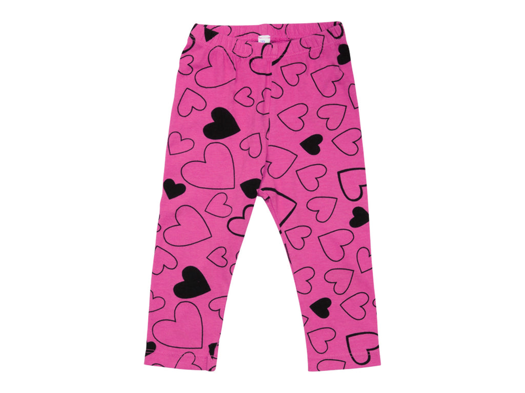 Confetti Love Leggings, Hot Pink