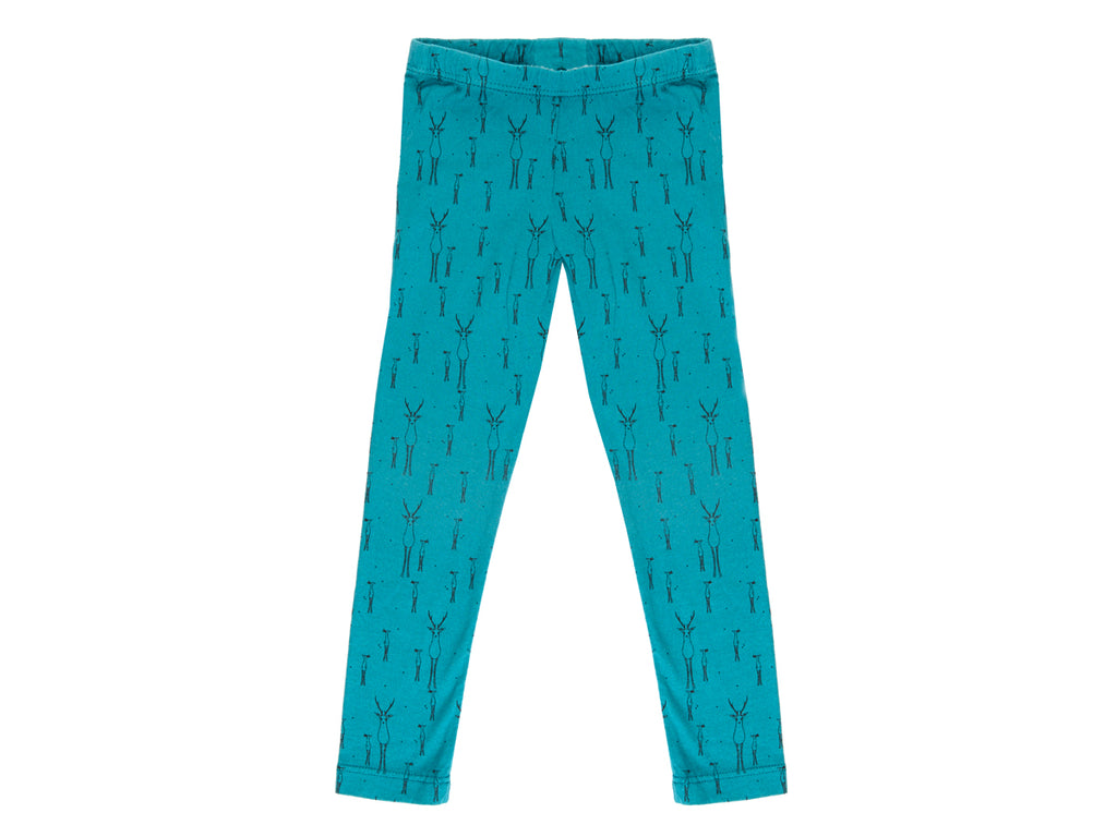 Reh Mama Deer Leggings in Teal