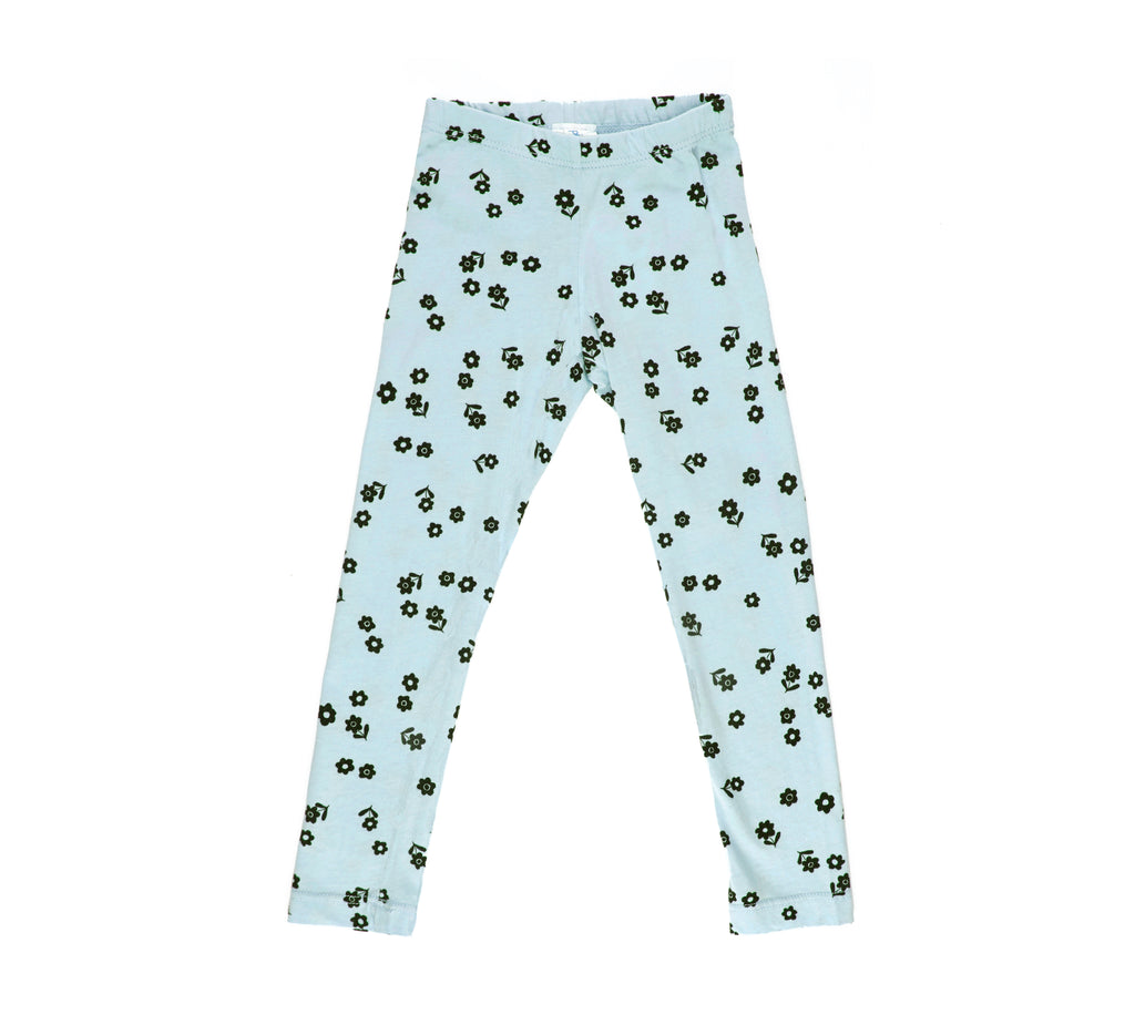 Confetti Fleur Leggings, Dusty Blue