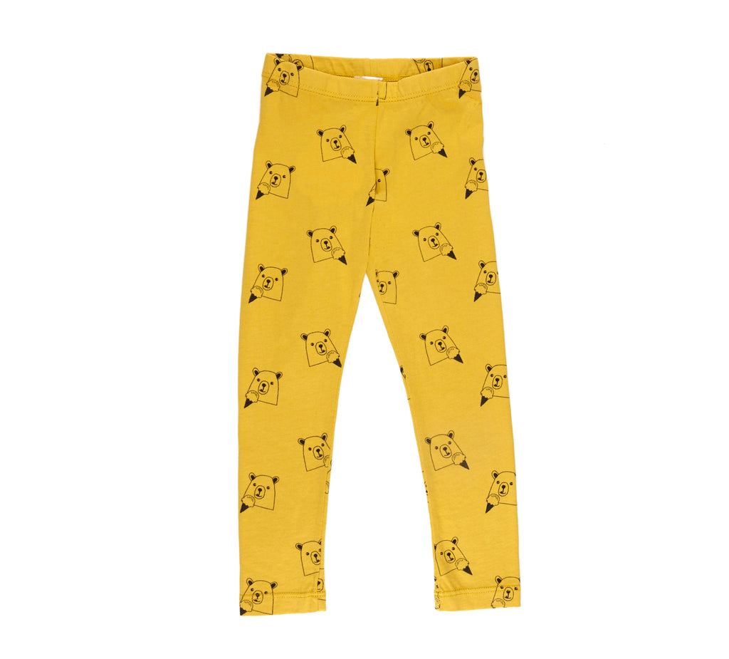 Ice Cream Bear Leggings, Marigold