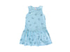 Jelly Star Drop Waist Dress, Baby Blue