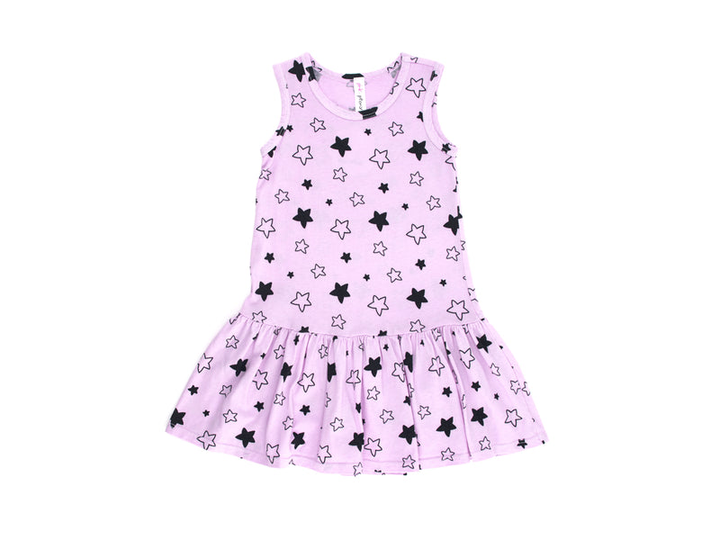 Star Bright Drop Waist Dress in Lovely Lilac