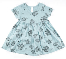 Aloha Hona Baby Doll Dress, Dusty Blue