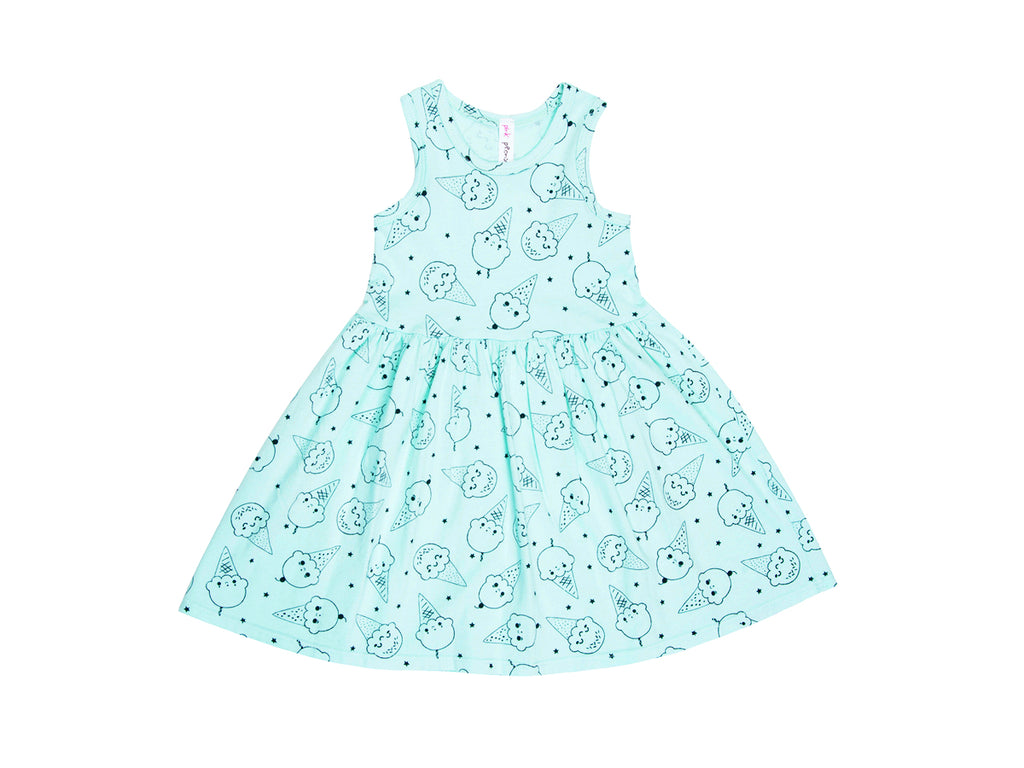 Ice Cream Smiles Tank Dress in Marvelous Mint