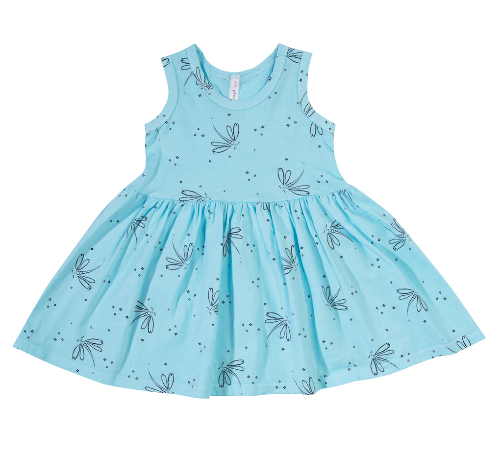 Dragonfly Dreams Tank Dress, Baby Blue