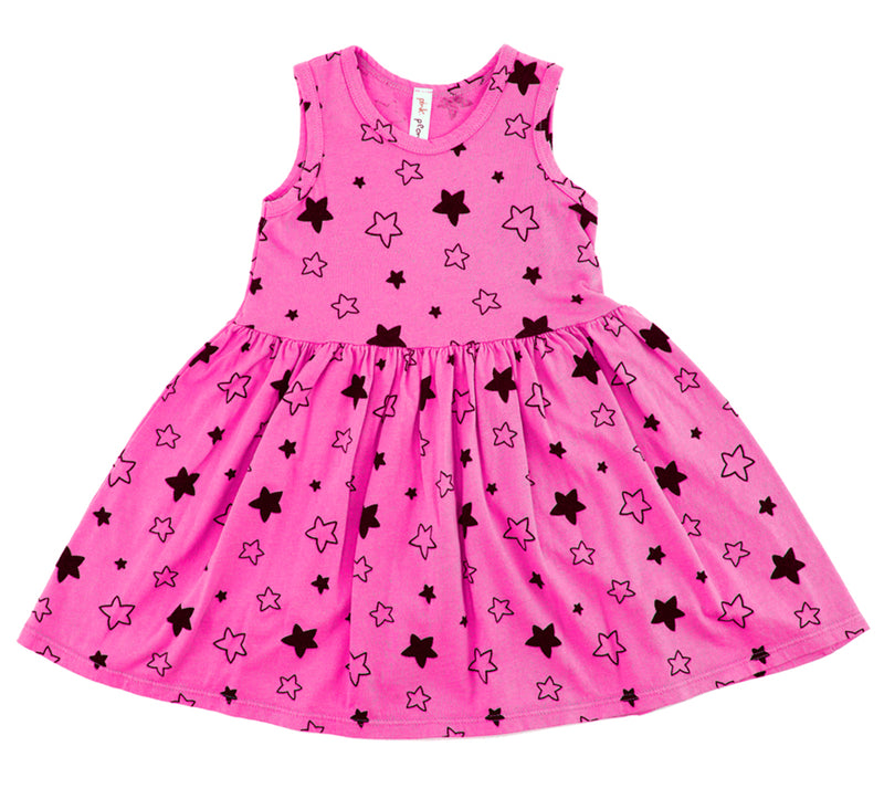 Star Bright Tank Dress, Hot Pink