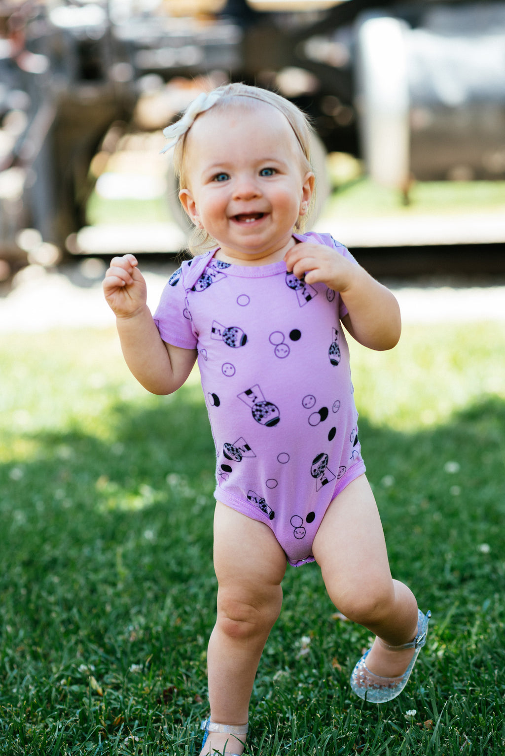 Gumballs Baby Onesie, Lovely Lilac