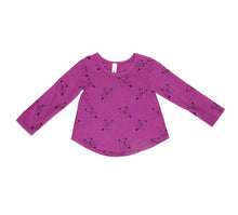 Ice Cream Bear Long Sleeve Tee, Magenta