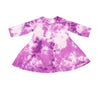 Crystal Tie Dye A-line dress, Violet Orchid