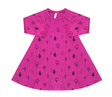 Black Forest Bloom A-line dress, Hot Pink