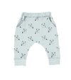 Ice Cream Bear Harem Pant, Dusty Blue